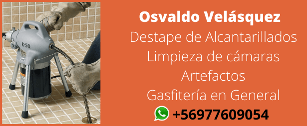 Osvaldo Velasquez - Destape de alcantarillados